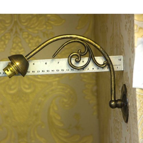 Pair of Fancy Solid Brass Wall Bracket BC Fit Antique Finish